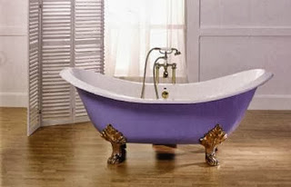Colored freestanding bathtubs