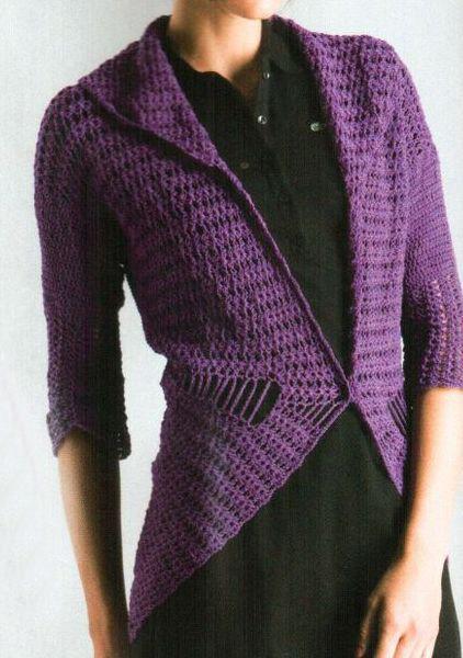 Abrigo circular crochet
