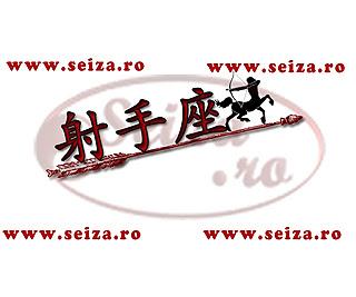 Tatuaj pentru zodia sagetator cu simbolul chinezesc / japonez pentru Sagetator (Japoneza: Kanji: 射手座; hiragana: いてざ; citire: iteza) (Chineza: Hànzì: 射手座; pinyin: shèshǒuzuò)