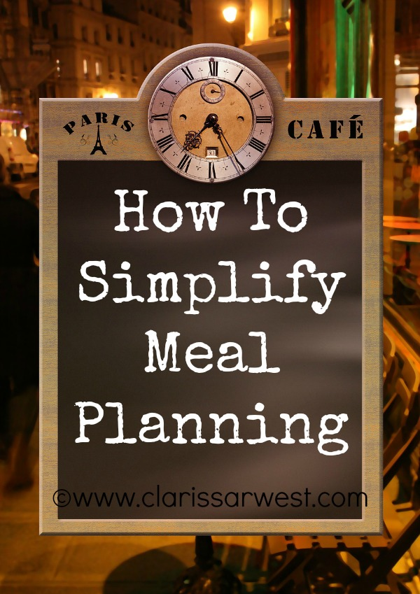 How To Simplify Meal Planning