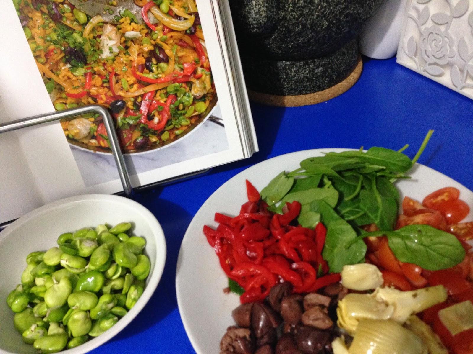 Yotam Ottolenghi 's Multi-vegetable Paella from Plenty