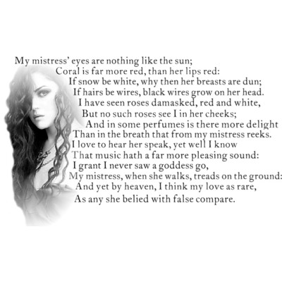 an analysis of william shakespeares my mistress eyes are nothing like the sun Sonnet 130: my mistress' eyes are nothing like the sun by william shakespeare my mistress eyes are nothing like the sun coral is far more  shakespeares-sonnets.