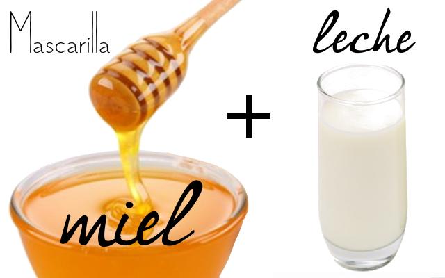 Mascarilla para el rosto a base de miel y leche