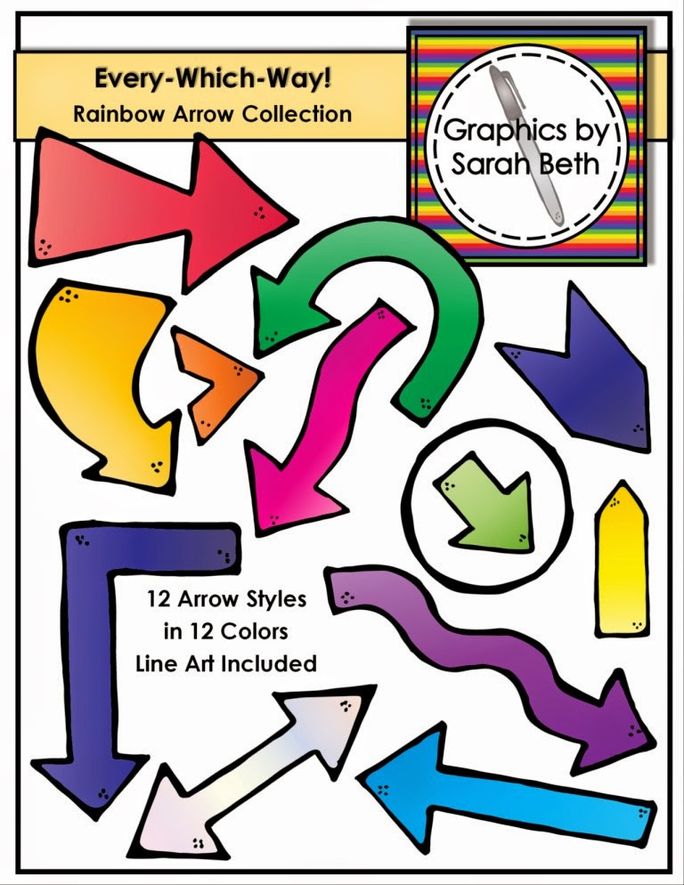 http://www.teacherspayteachers.com/Product/Every-Which-Way-Rainbow-Arrow-Clipart-Arrows-Graphics-1317565