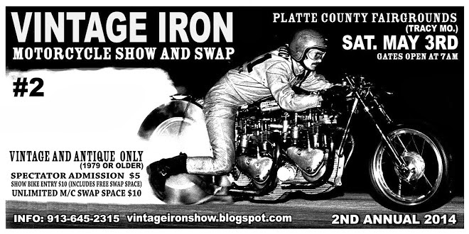 VINTAGE IRON SHOW & SWAP (just North of KC at an old-time fairgrounds !)
