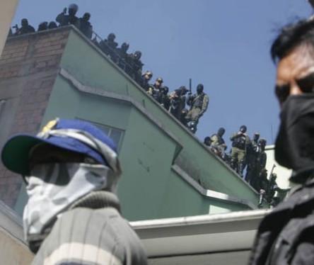 Motín policial en Bolivia
