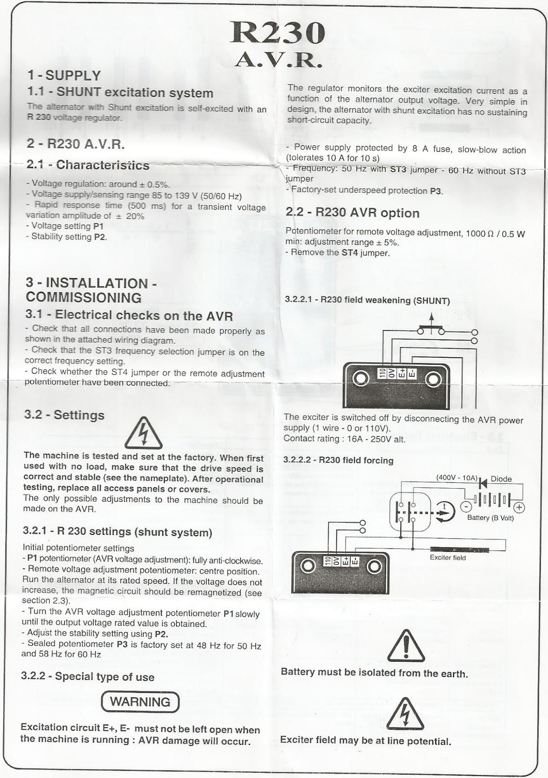 2015 Glopmar Avr As440 Wiring Diagram Characteristics