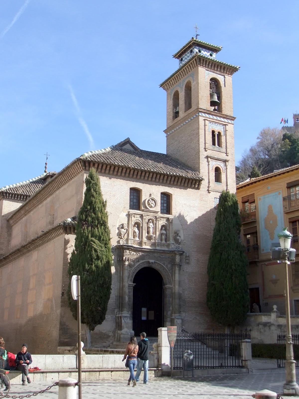 Postcards from spain granada iglesia de santa ana y san gil - Santa ana granada ...