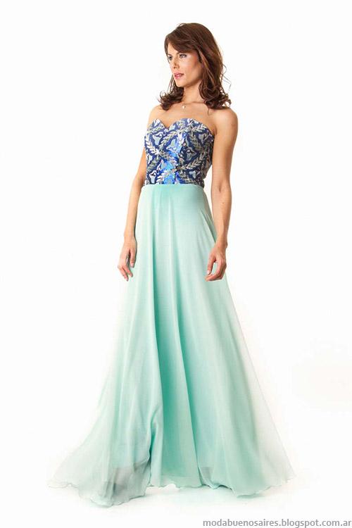 Moda primavera verano 2015 Verónica Far vestidos de fiesta.
