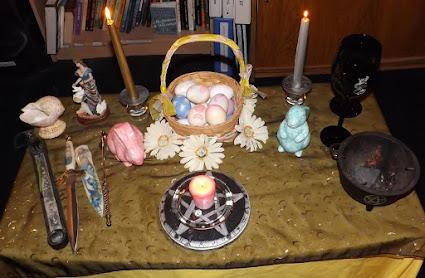 Ostara/Spring Equinox altar
