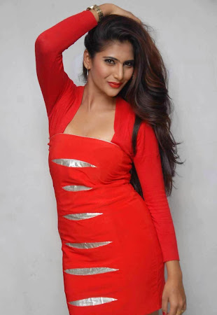 glorious Neha saxena hot photo in red dress