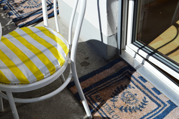 decorating with striped textiles