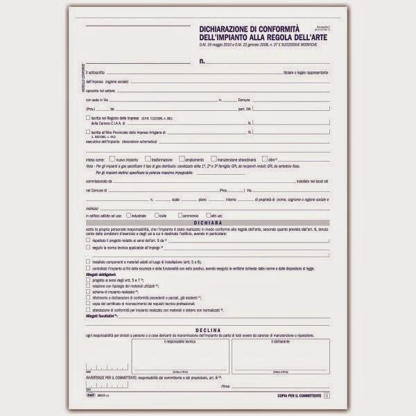 certificazione conformit impianti compravendita