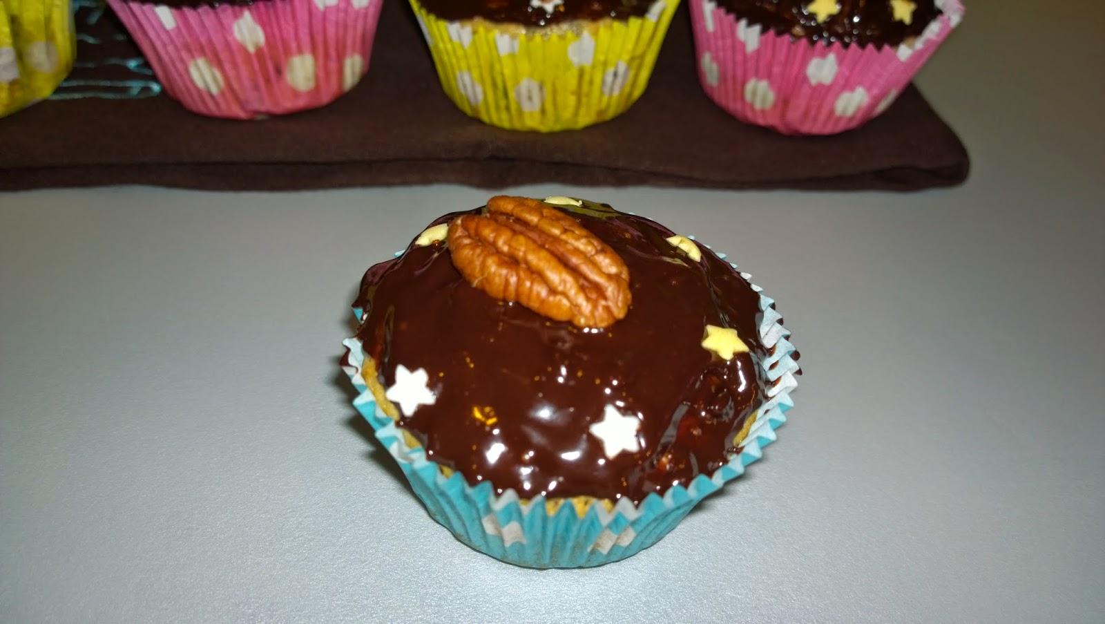 Muffins pépites de chocolat, noix de pécan