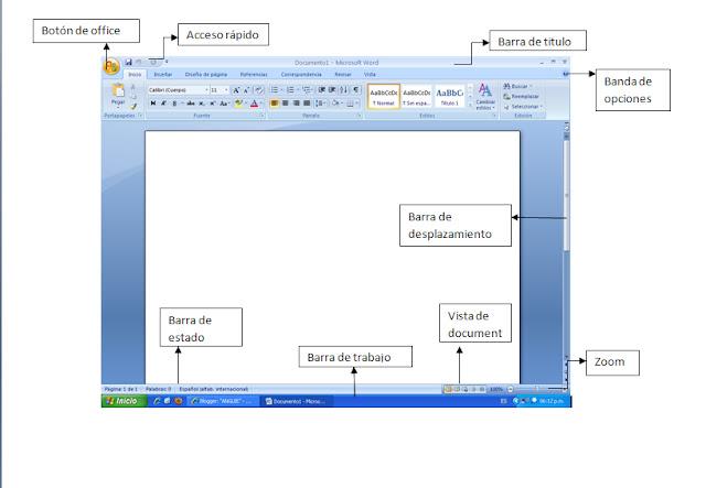 actividad:13 Elementos de la pantalla de word