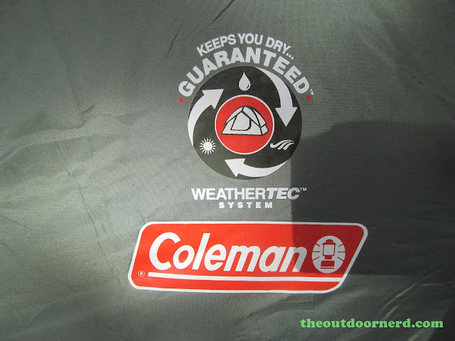 Outlet Campgrounds At Priest Lake, Idaho: Waterproof Coleman Tent