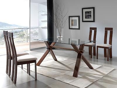 Mesas de comedor por la decoradora experta mesa de for Sillas para una mesa de cristal