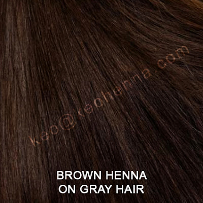 Brown Henna Hair Color On Gray Hair