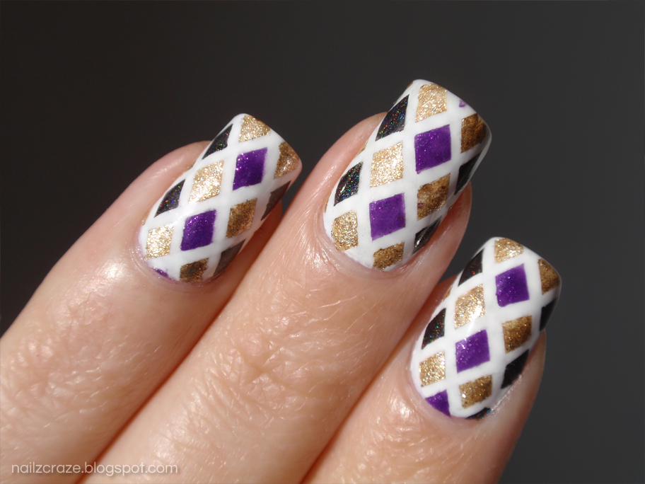 Striping tape mani for My Awesome Beauty competition - Nailz Craze