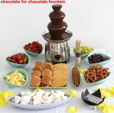 chocolate for chocolate fountain