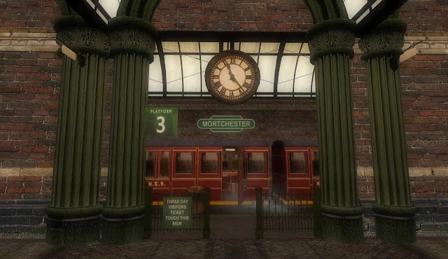 Steampunk Train Station Where on can take the train to Steampunk Floating City