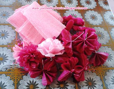 ... tak? Bunga-bunga kaler magenta n pink ni bakal dijadikan bunga telur