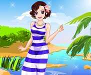 تلبيس فتاة شاطئ البحر