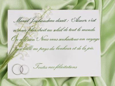 carte pour flicitation mariage 2 - Formule Felicitation Mariage