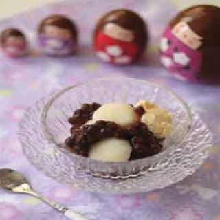 Shiratama Dumplings With Azuki Beans and Vanilla Ice Cream