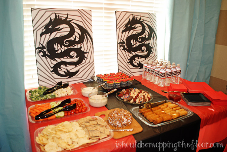 A Budget-friendly DIY Ninja party or #Ninjago party.