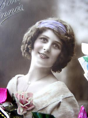 dama vintage de principios de siglo veinte