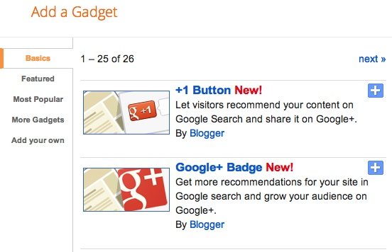 How to add Google +1 and Google+ Badge?