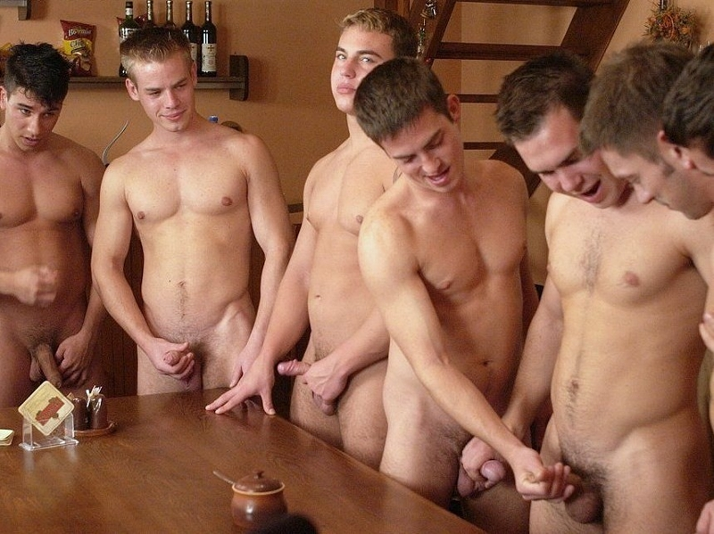 Group of guys jacking off