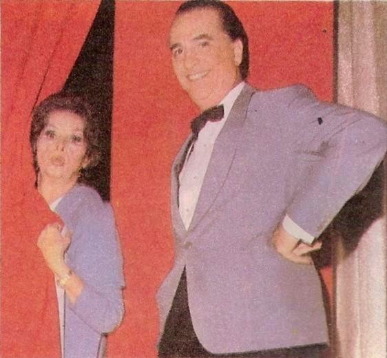 Tita Merello y Hugo del Carril en 1960