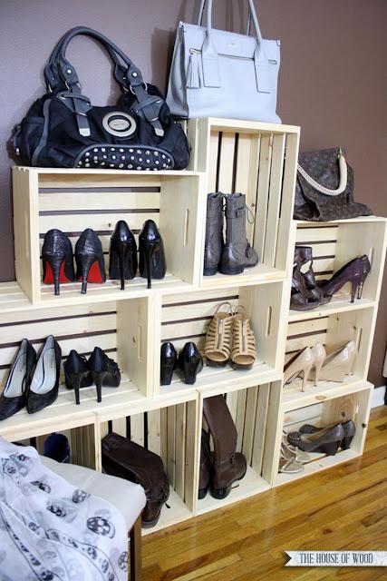 Ideias para arrumar e organizar os seus sapatos