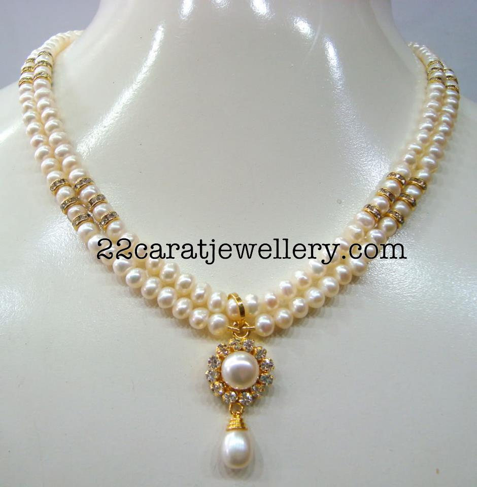 Pearls necklace 1000 rs jewellery designs pearls necklace 1000 rs mozeypictures Image collections