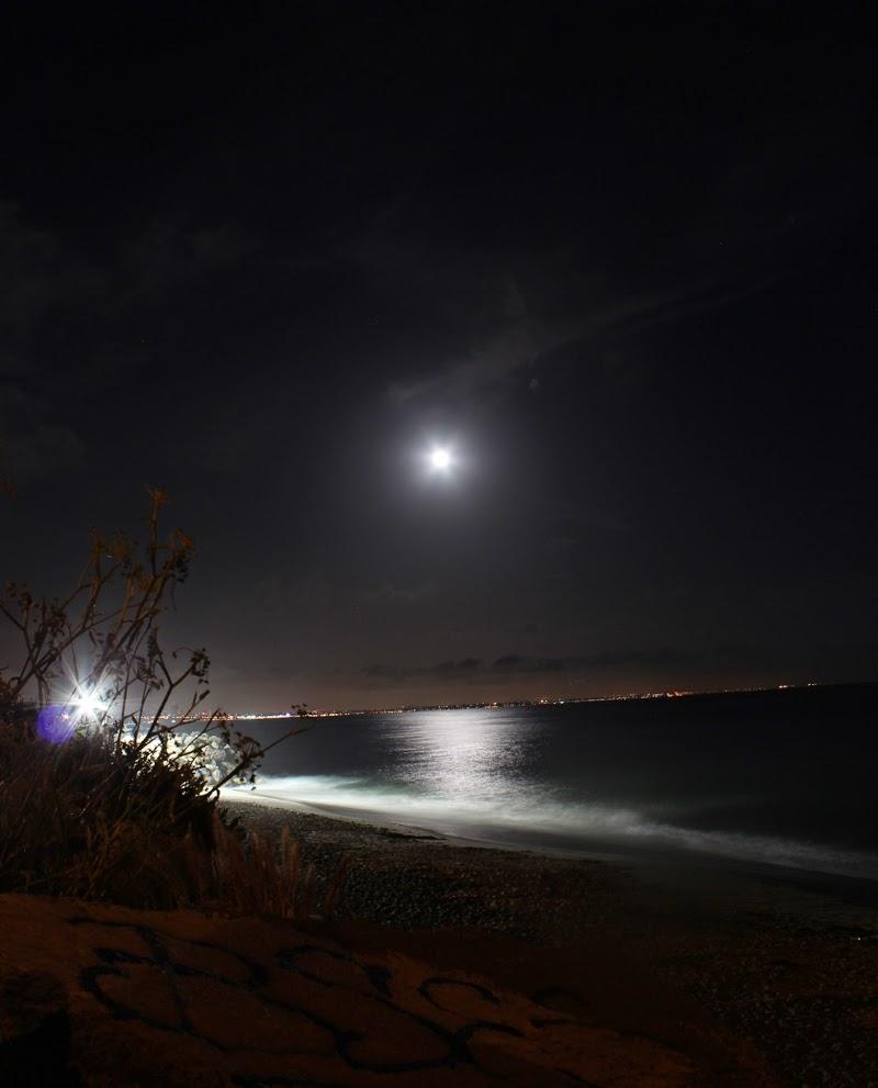 Super Moon Over malibu