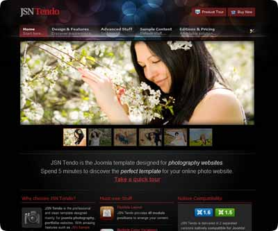 Free JSN Tendo Sharp and Artistic Joomla 1.7/2.5 & 1.5 Template