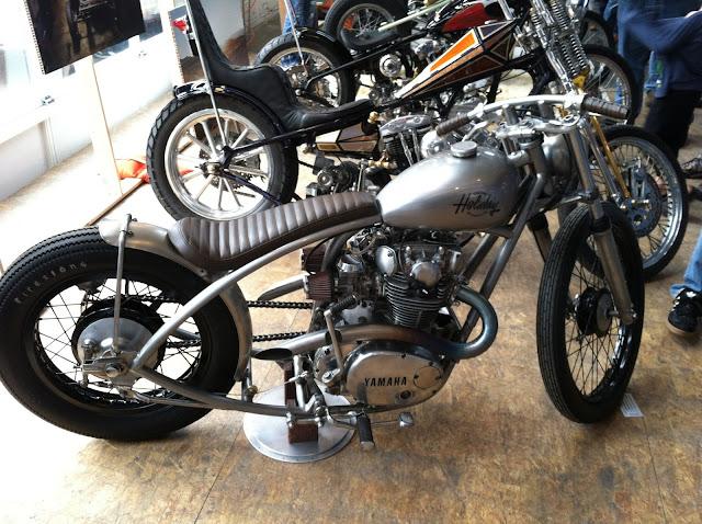 Bobber with Yamaha twin motor