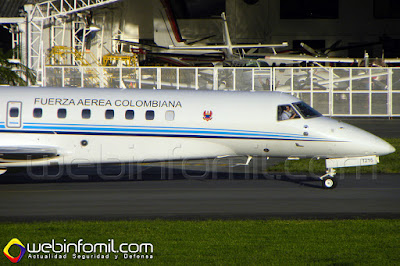 Embraer Legacy 650 de la Fuerza Aérea Colombiana, de matrícula FAC1215.