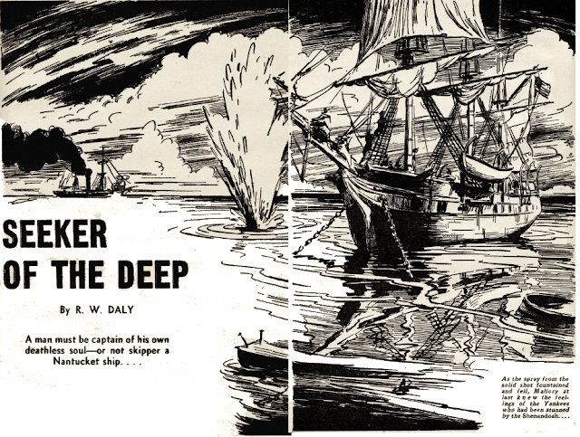 Illustration for Seeker of the Deep by R.W. Daly