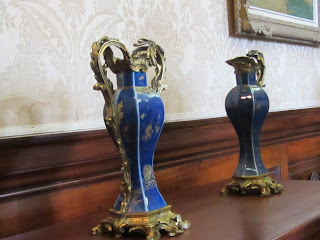 Delicate Blue vases in Russborough House