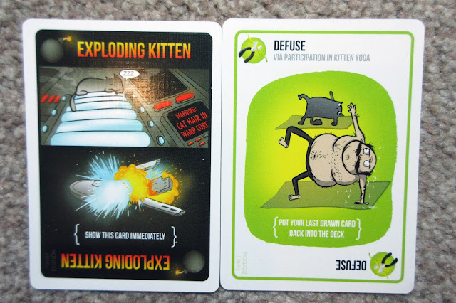 Exploding Kitten and Defuse cards