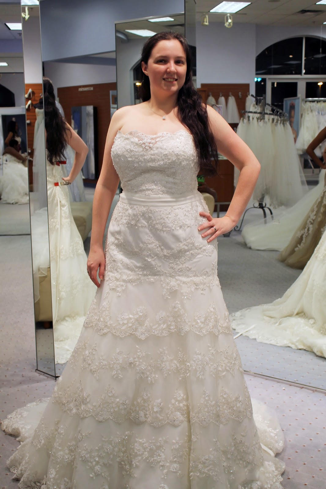 Tracie wearing Alfred Angelo 896