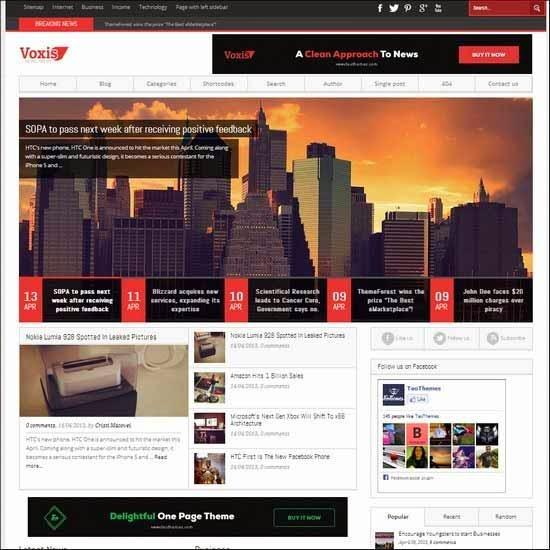 Voxis - Responsive News, Magazine Theme