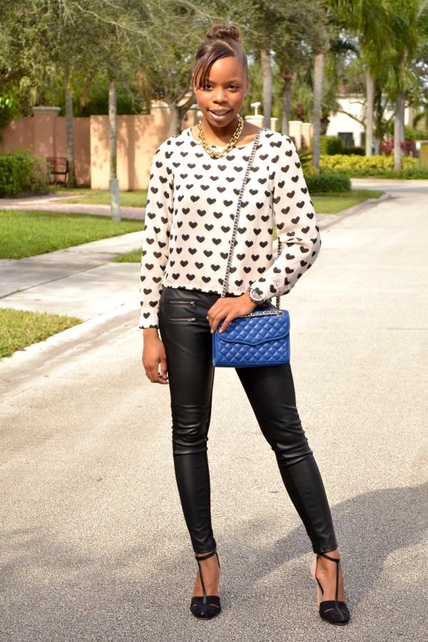 Vegan Leather Leggings | Fall Outfits