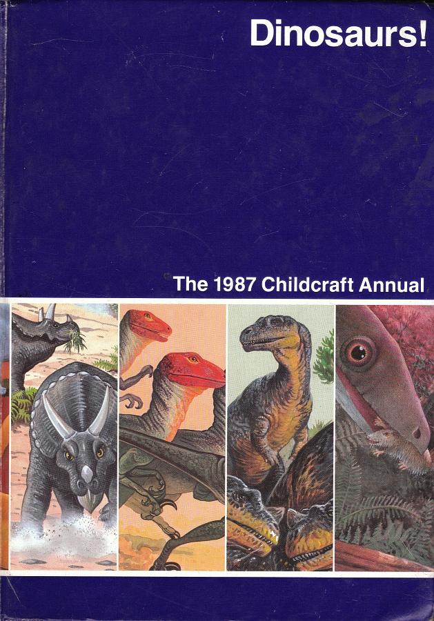 Vintage Dinosaur Art: Dinosaurs! The 1987 Childcraft Annual - Part 1
