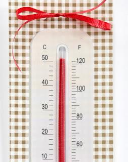 cara membuat kerajinan tangan dari sedotan : Membuat termometer
