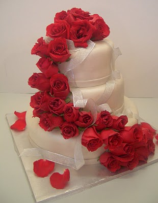 Awesome Wedding Cake Designs with Roses Decoration ...