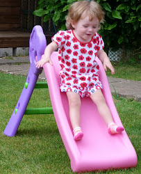 Tegan on her new slide!